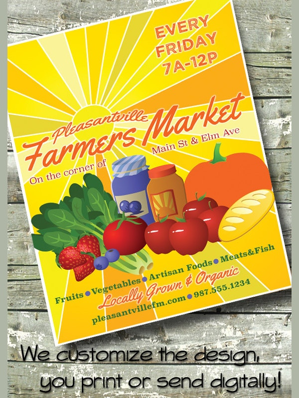 Farmers Market Grocery Flyer