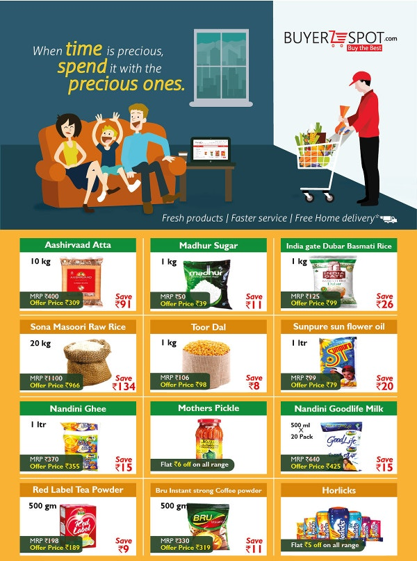Online Grocery Design Flyer