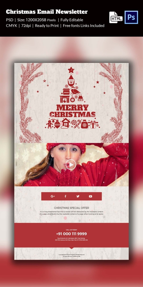 Festive Spirit Christmas Newsletter Template