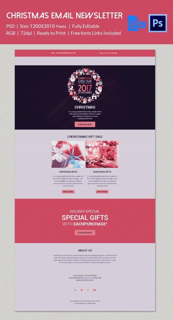 Elegant Christmas Email Newsletter Template