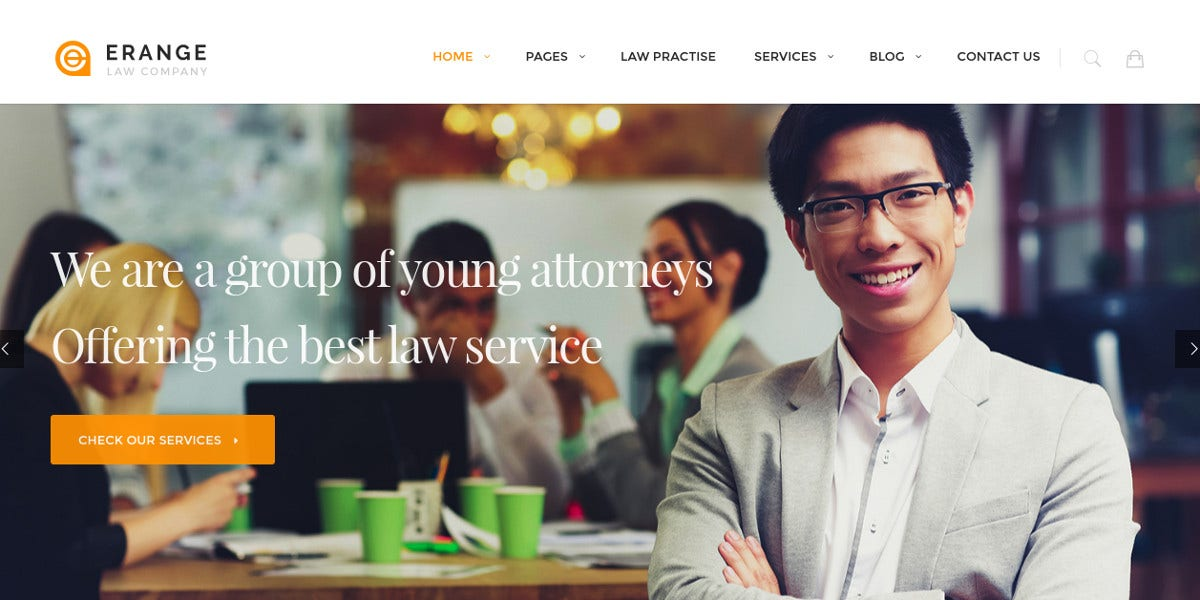 Advocate Law Firm WordPress Website Theme $59