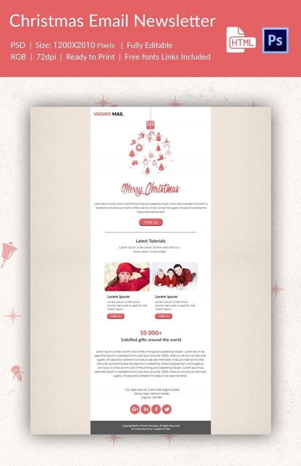 Christmas Tutorial Email Newsletter Template