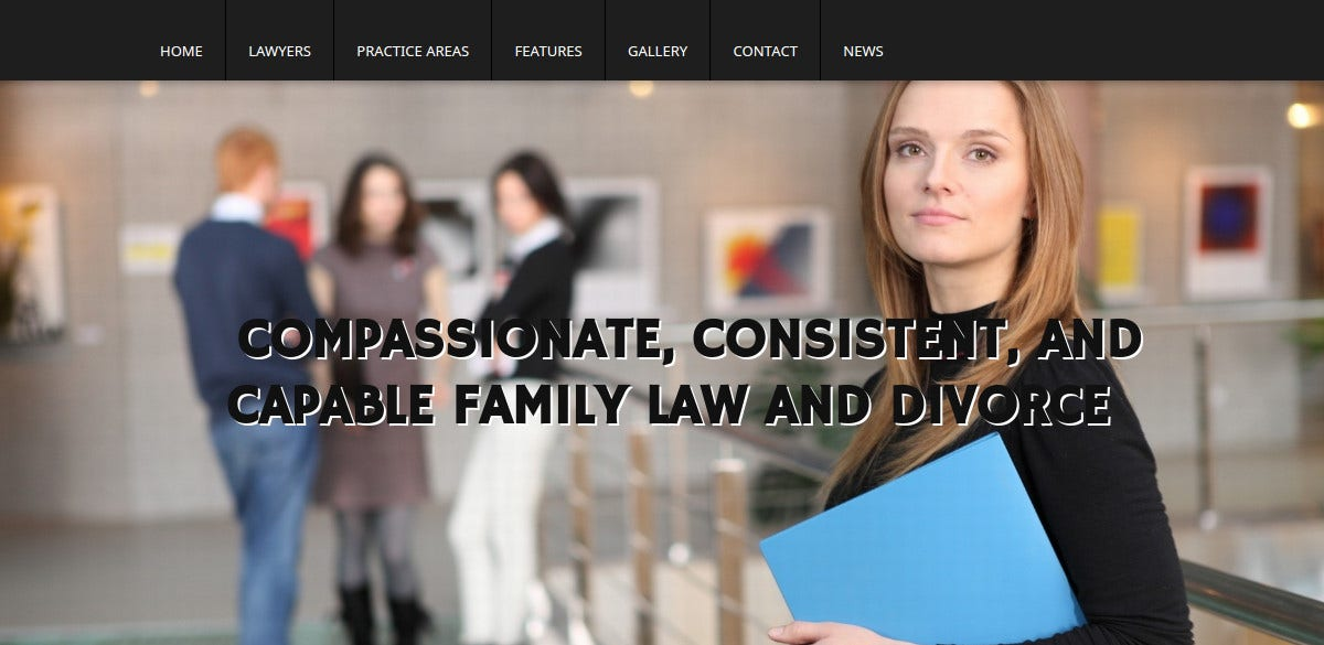 Barrister Law Firm WordPress Website Theme $69