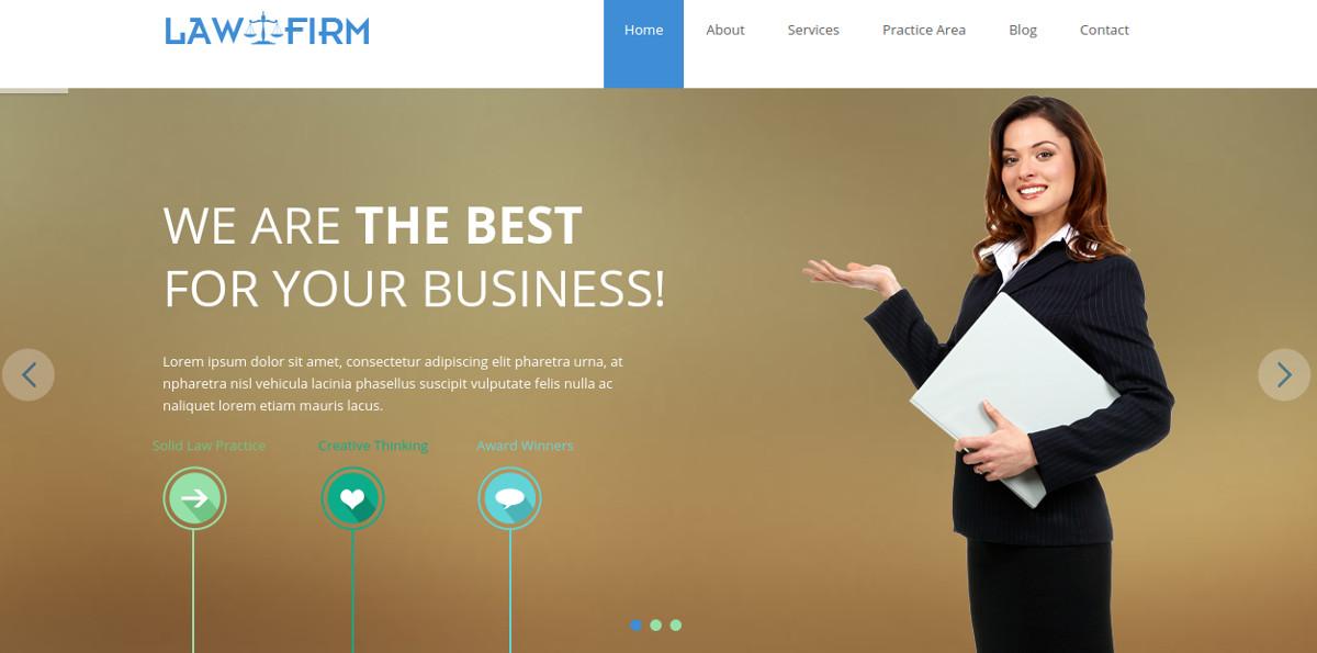 Law Firm – Responsive WordPress Website Theme $49