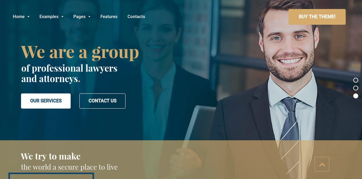 Advocate Law Firm Website Theme $59