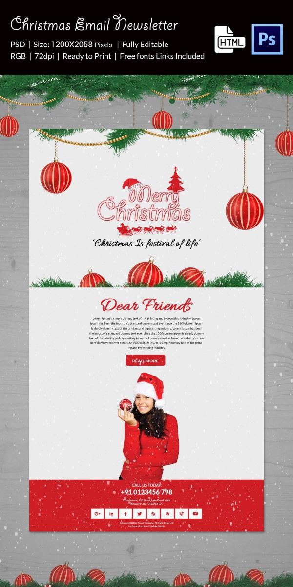 Modern Christmas Email Newsletter