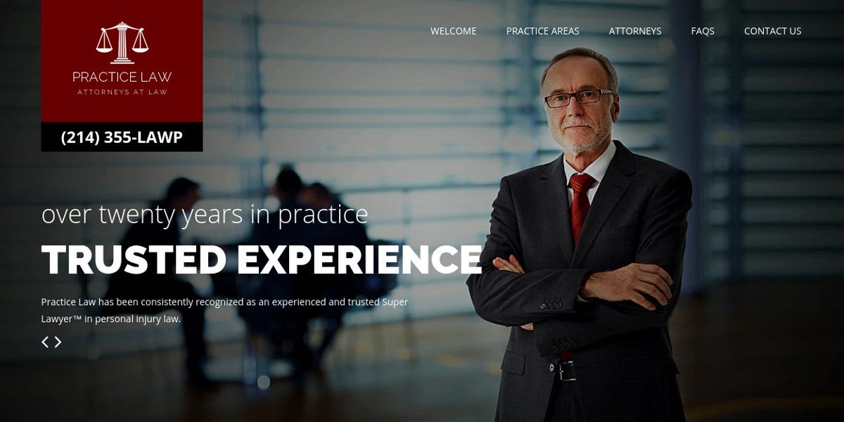 Practice Law Firm WordPress Website Theme $48