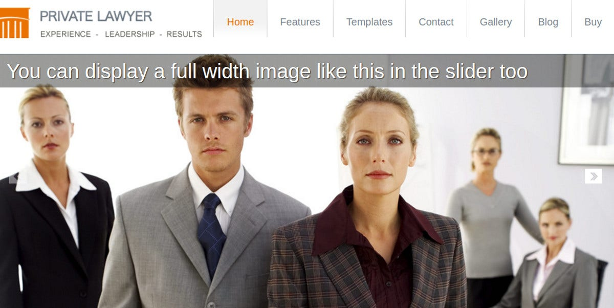 Law Firm Website Template for Private Lawyer