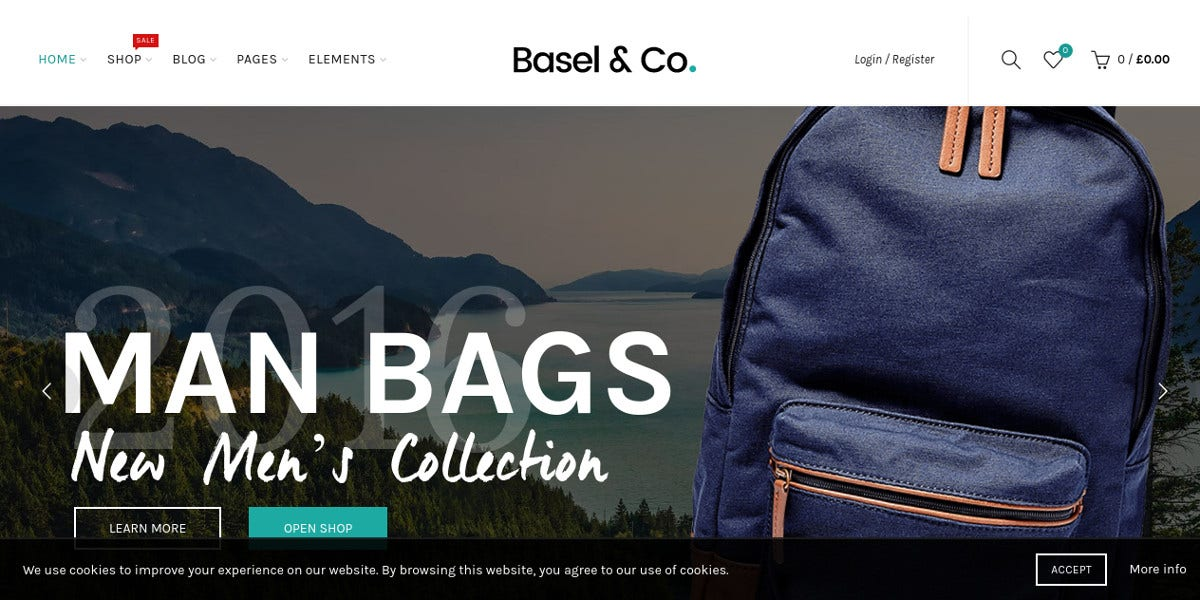 eCommerce Website Theme for Watches, Bags $59