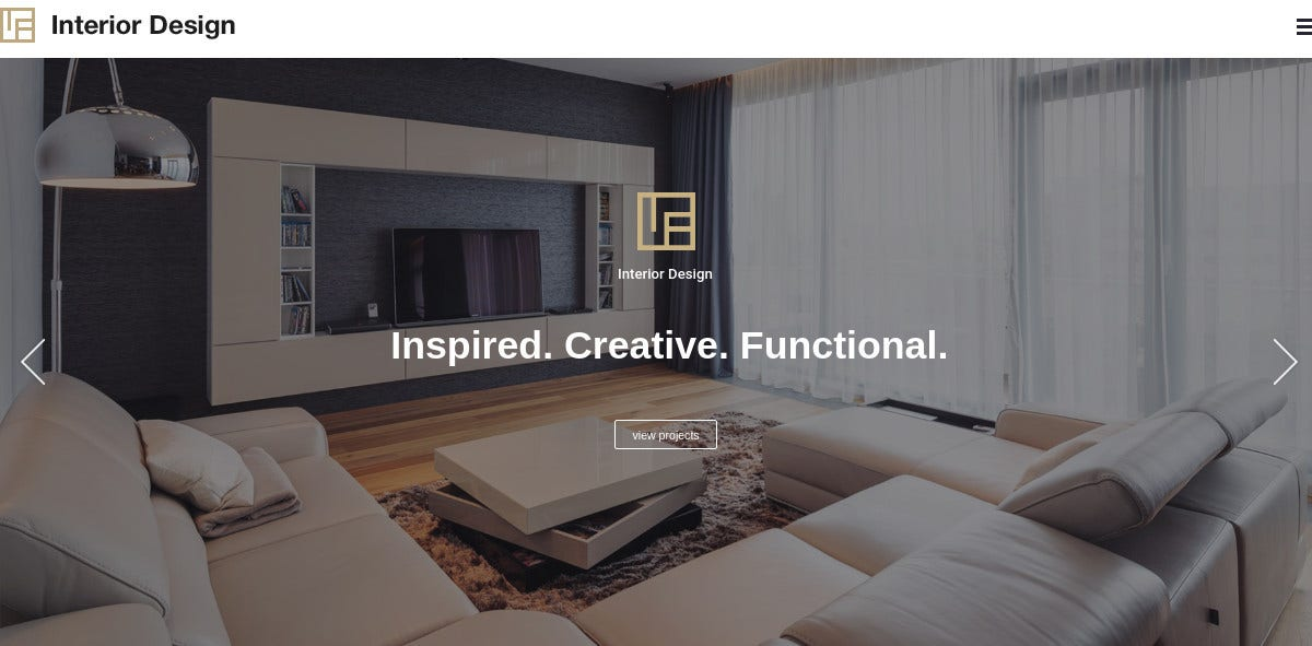 Architecture & Interior Design WP Website Theme $59