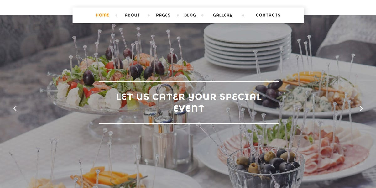 Scrolling Catering Services & Restaurant Joomla Website Template $75