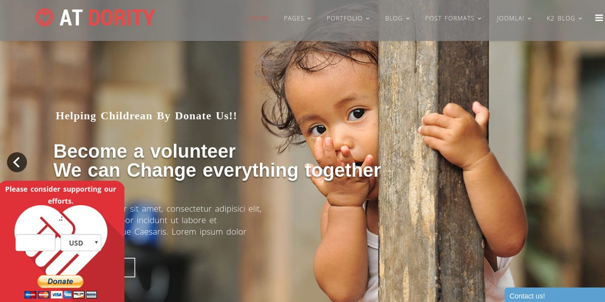 Non Profit & Charity Joomla Website Template $19