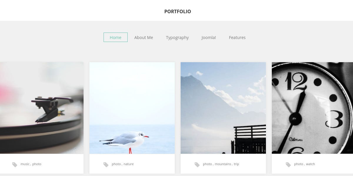 Photographer Portfolio Scrolling Joomla Website Template