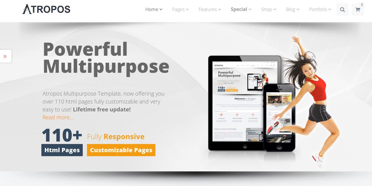 Multipurpose HTML Website Template $17