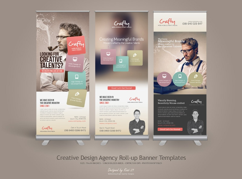 Super 28+ Roll Up Banner Designs | Free & Premium Templates NB21