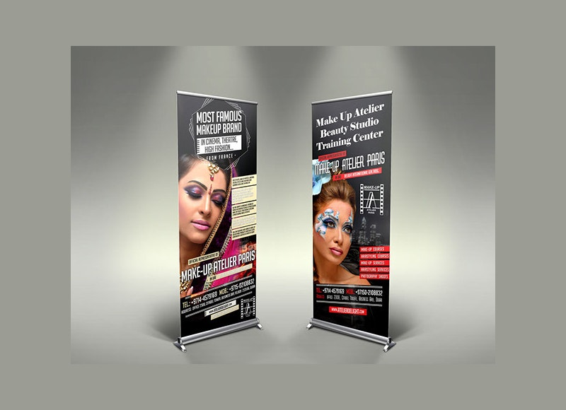 graphic design roll up banner