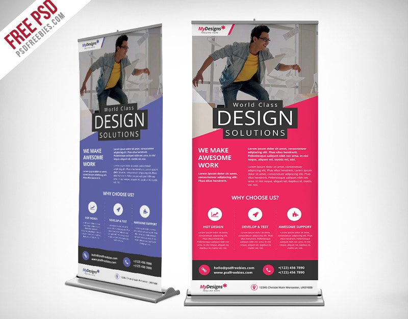 stand display roll up banner