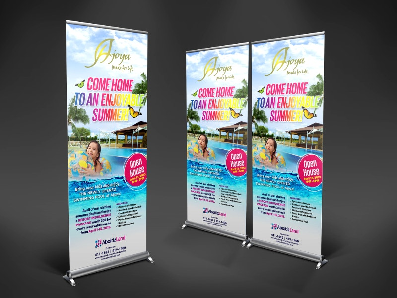 summer party rollup banner