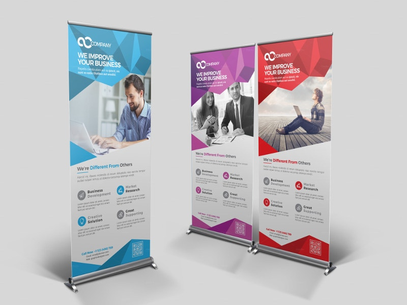 presentation multipurpose roll up banner