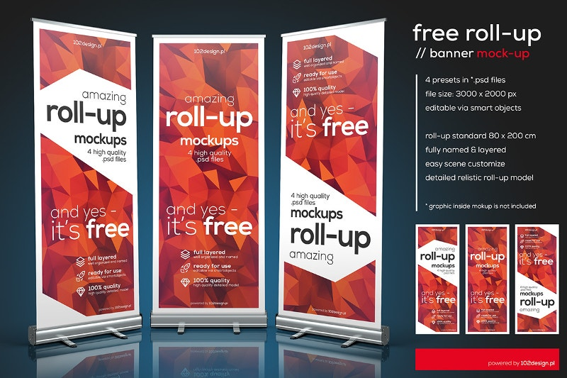 free psd roll up banner