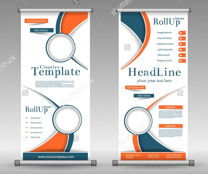 geometric colourful design roll up banner