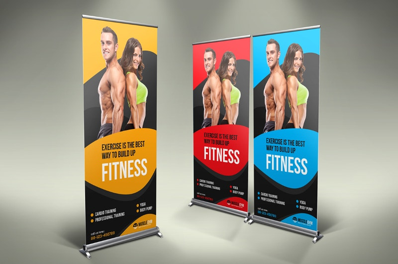 roll up banner for fitness