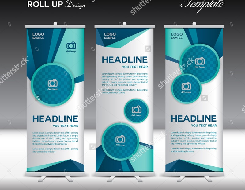 polygon background advertising banner