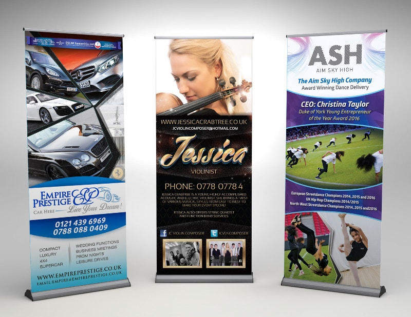 custom design pull up banner