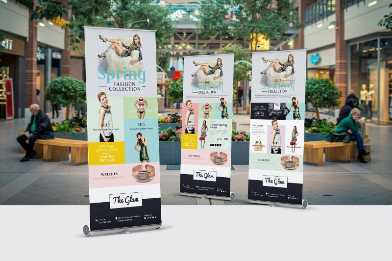 classy outdoor roll up banner for fashion