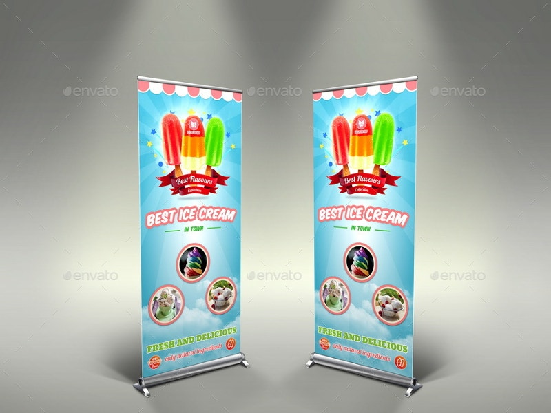 ice cream advertising banner