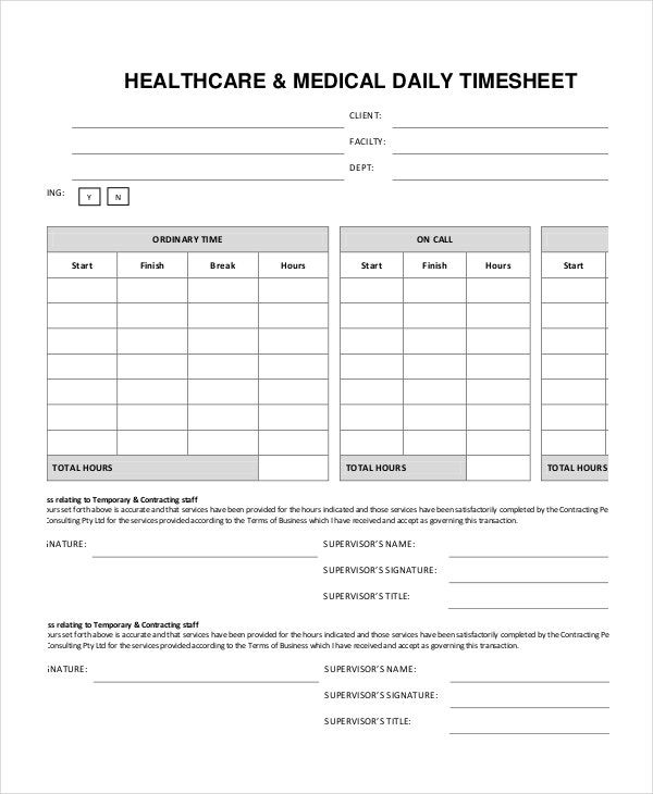 health-care-medical-daily-timesheet