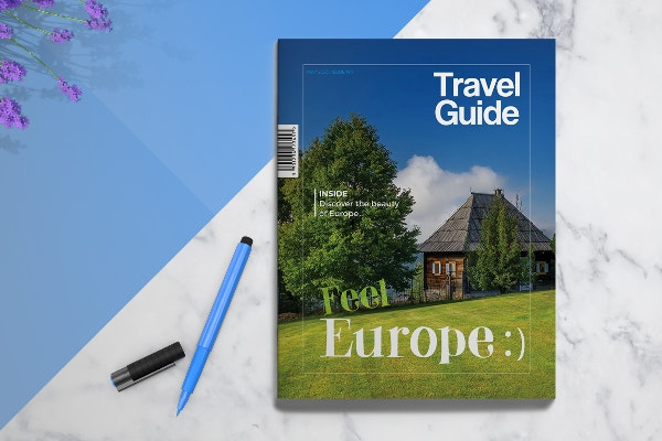 19 travel brochure free psd ai vector eps format for Travel guide brochure template