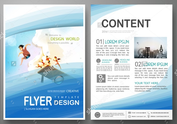 19 travel brochure free psd ai vector eps format for Brochure template for kids
