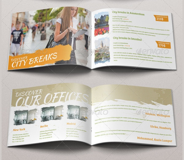 19 travel brochure free psd ai vector eps format for Fun brochure templates