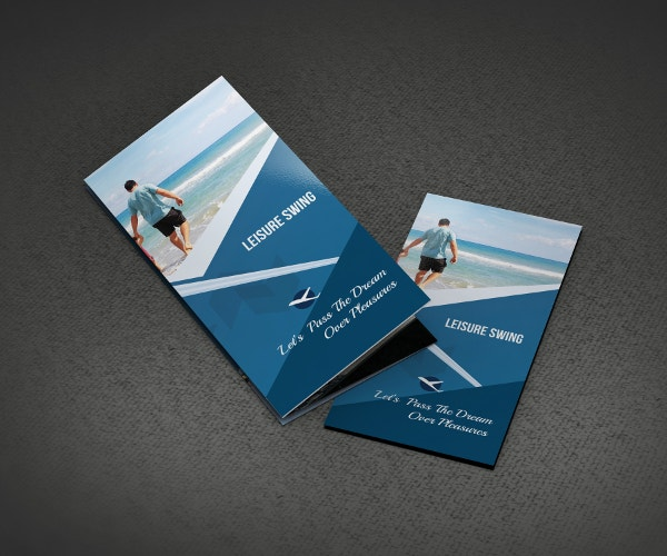 Free Travelling Trifold Brochure Template
