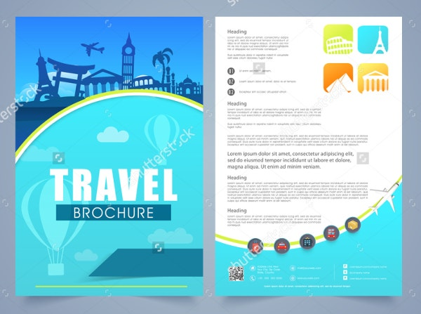 19 travel brochure free psd ai vector eps format for Two page brochure template