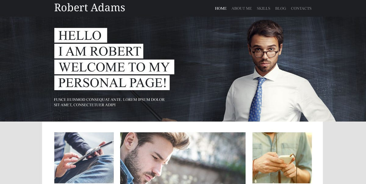 5 personal psd template