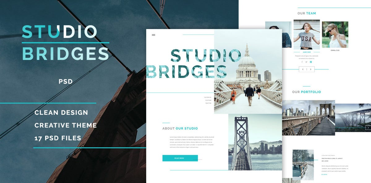 6 studio psd template