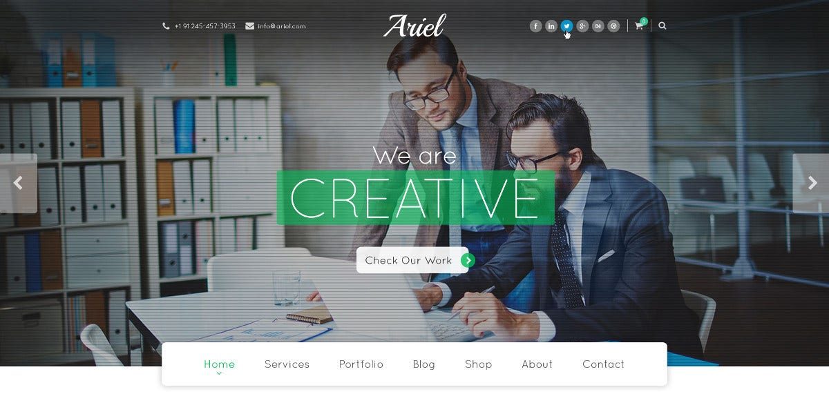 7 business psd template