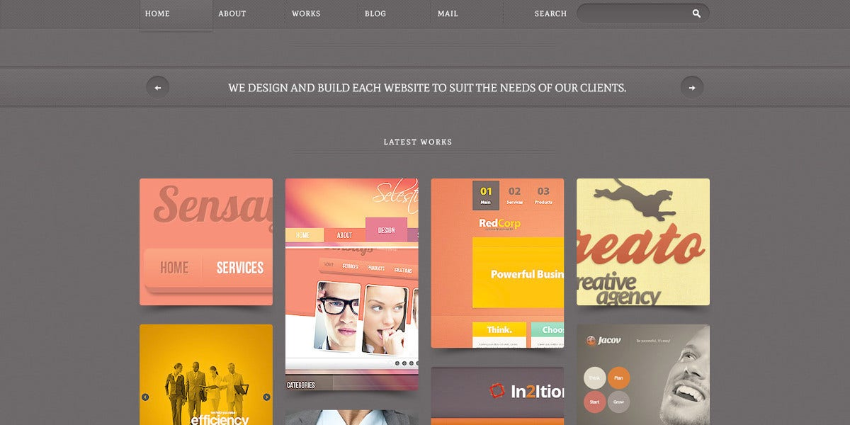 web design psd template 11