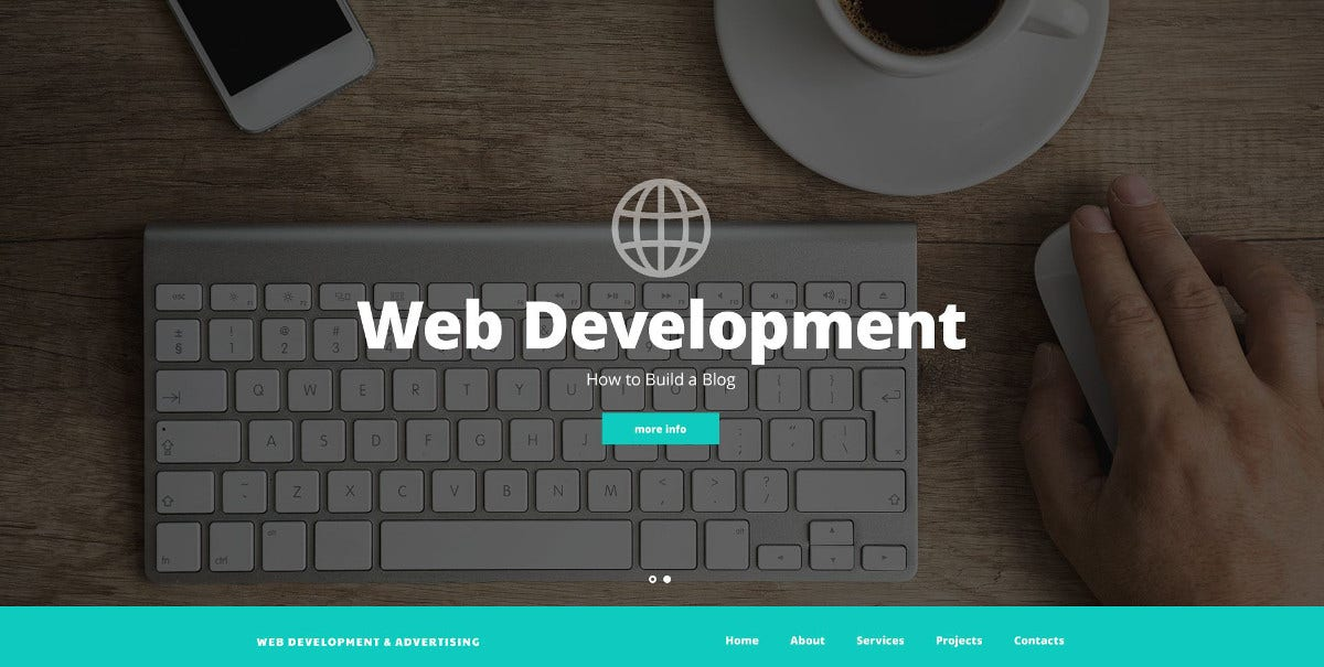 Web Development PSD Template $ 11