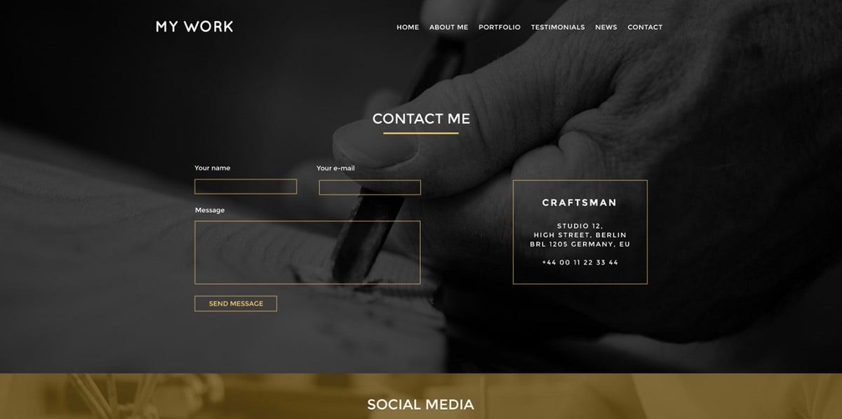 My Work PSD Template $ 20