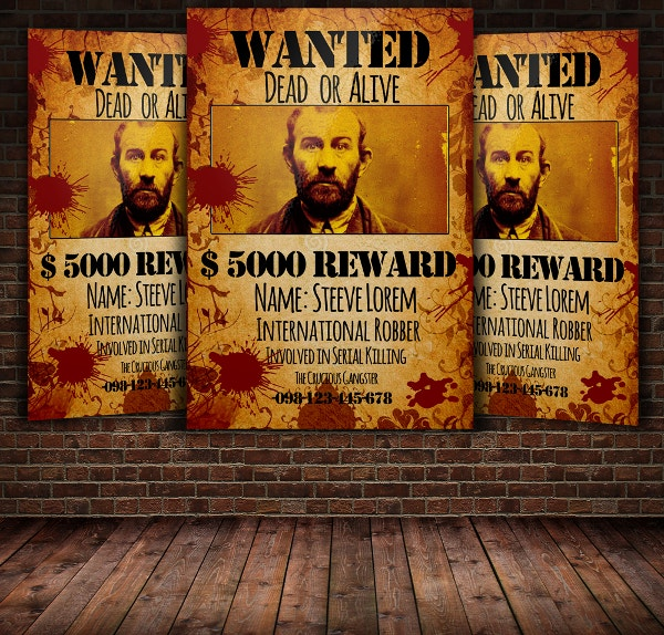 reward wanter flyer template