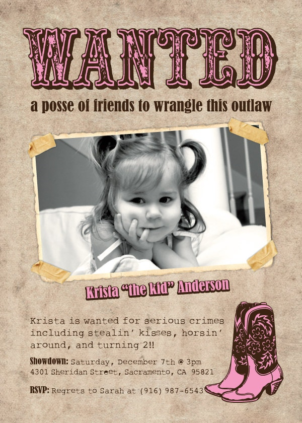 Printable Kid Wanted Poster