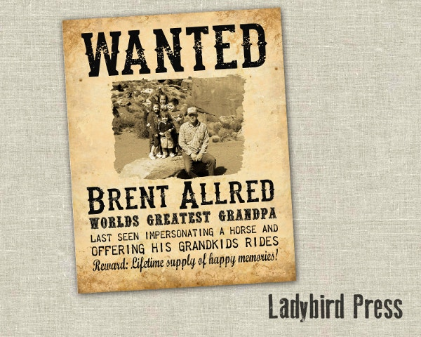 family wanted poster template