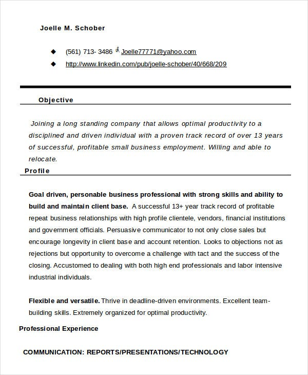 10+ Functional Resume Templates - PDF, DOC