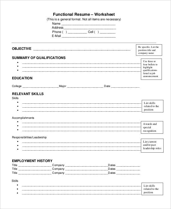 Resume Worksheet For High School Students The Best And Most  Resume Worksheet For High School Students