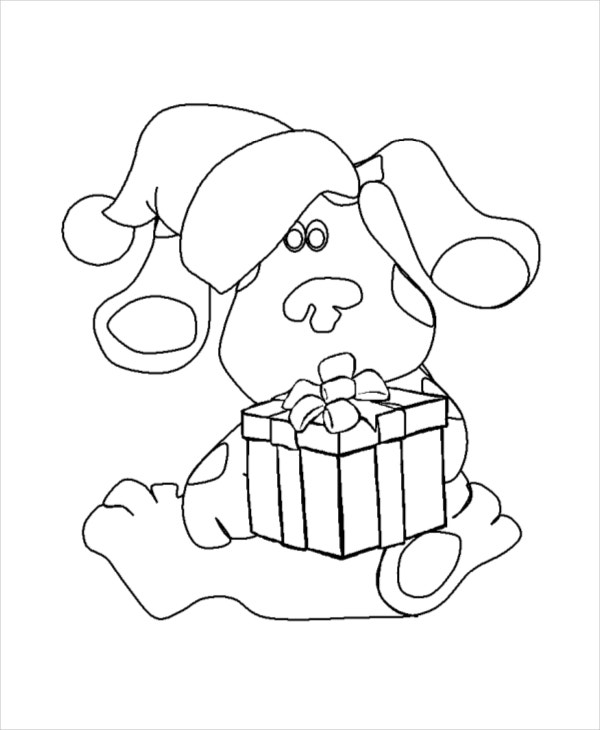 printable cartoon christmas coloring page