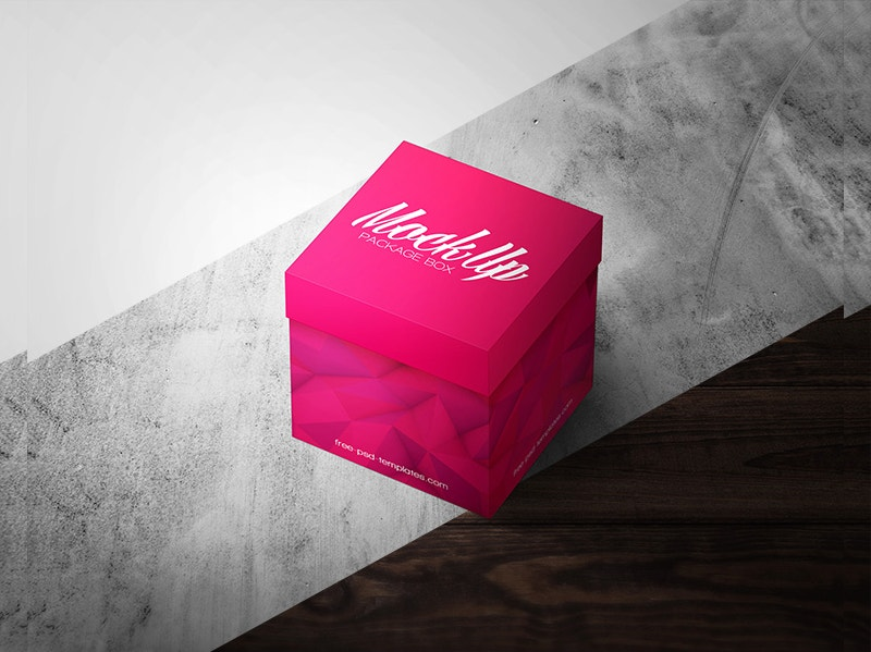 square box psd mockup free download