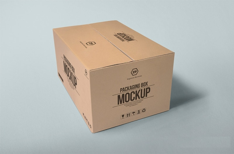 best packaging box mock up